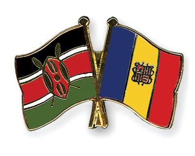Crossed Flag Pins Kenya-Andorra