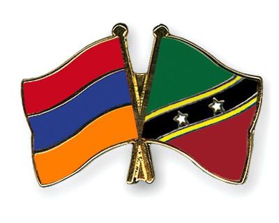 Crossed Flag Pins Armenia-Saint-Kitts-and-Nevis