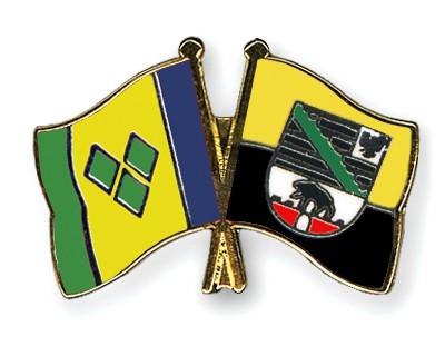 Crossed Flag Pins Saint-Vincent-and-the-Grenadines-Saxony-Anhalt
