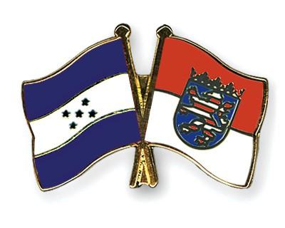 Crossed Flag Pins Honduras-Hesse