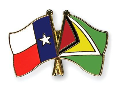 Crossed Flag Pins Texas-Guyana