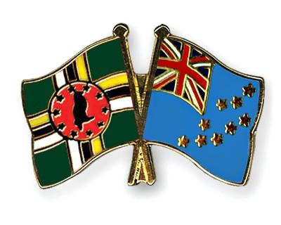 Crossed Flag Pins Dominica-Tuvalu