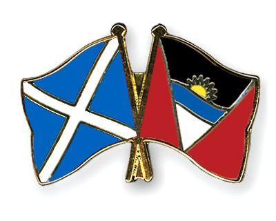 Crossed Flag Pins Scotland-Antigua-and-Barbuda
