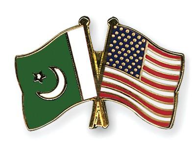 Crossed Flag Pins Pakistan-USA