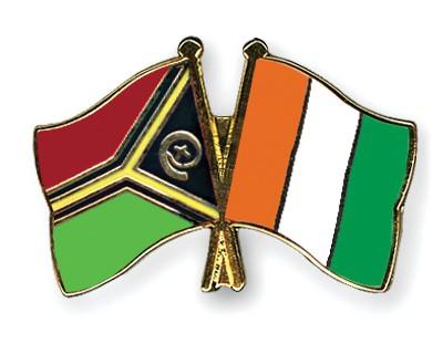 Crossed Flag Pins Vanuatu-Cote-d-Ivoire