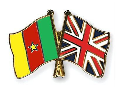 Special Offer Crossed Flag Pins Cameroon-Great-Britain