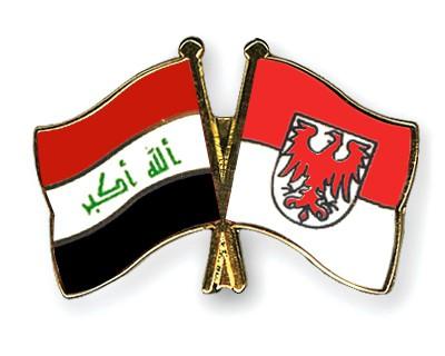 Crossed Flag Pins Iraq-Brandenburg