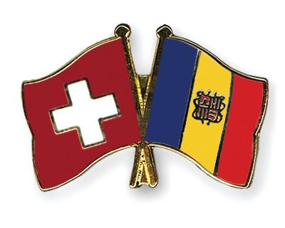 Crossed Flag Pins Switzerland-Andorra
