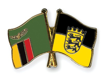 Crossed Flag Pins Zambia-Baden-Wuerttemberg