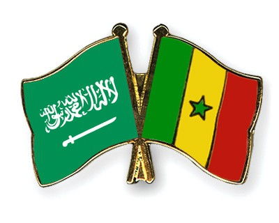 Crossed Flag Pins Saudi-Arabia-Senegal