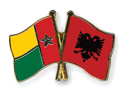 Crossed Flag Pins Guinea-Bissau-Albania