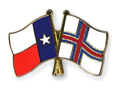 Crossed Flag Pins Texas-Faeroe-Islands