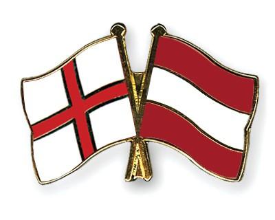 Crossed Flag Pins England-Austria