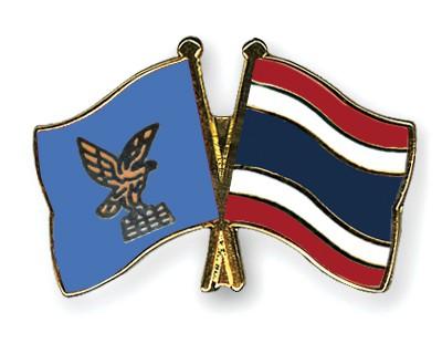 Crossed Flag Pins Friuli-Venezia-Giulia-Thailand