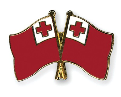 Crossed Flag Pins Tonga-Tonga