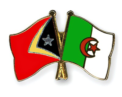 Crossed Flag Pins Timor-Leste-Algeria