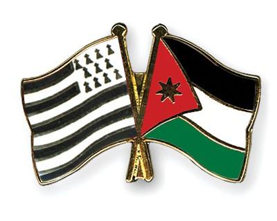 Crossed Flag Pins Britanny-Jordan
