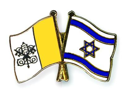 Crossed Flag Pins Vatican-City-Israel