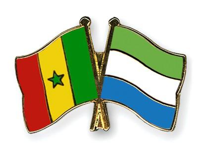 Crossed Flag Pins Senegal-Sierra-Leone