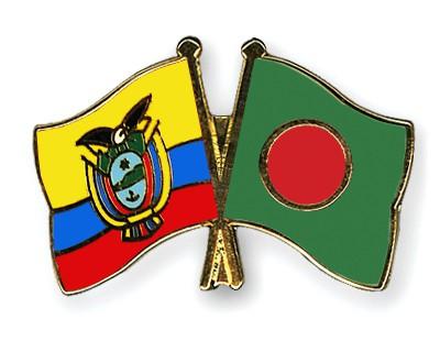 Crossed Flag Pins Ecuador-Bangladesh