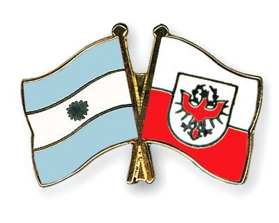Crossed Flag Pins Argentina-Tyrol