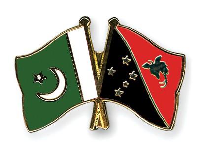 Crossed Flag Pins Pakistan-Papua-New-Guinea