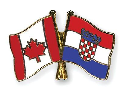 Special Offer Crossed Flag Pins Canada-Croatia