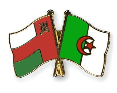 Crossed Flag Pins Oman-Algeria