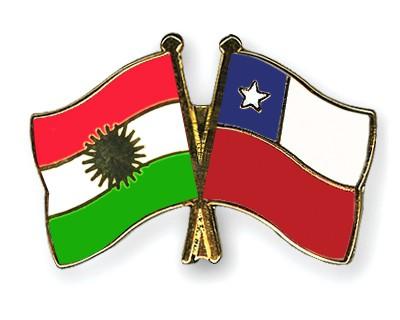 Crossed Flag Pins Kurdistan-Chile