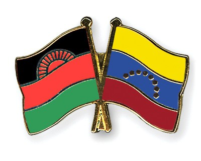 Crossed Flag Pins Malawi-Venezuela