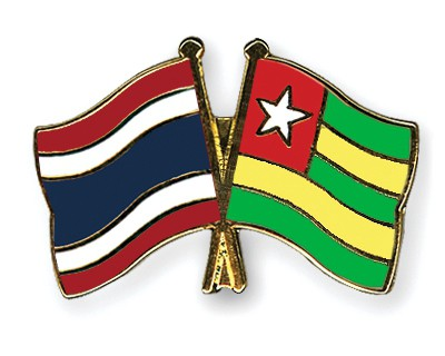 Crossed Flag Pins Thailand-Togo
