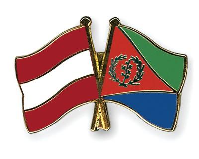 Special Offer Crossed Flag Pins Austria-Eritrea