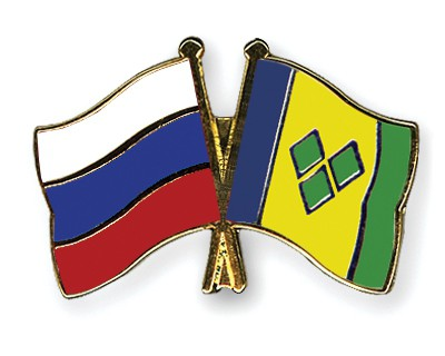 Crossed Flag Pins Russia-Saint-Vincent-and-the-Grenadines