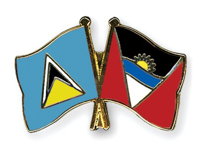 Crossed Flag Pins Saint-Lucia-Antigua-and-Barbuda