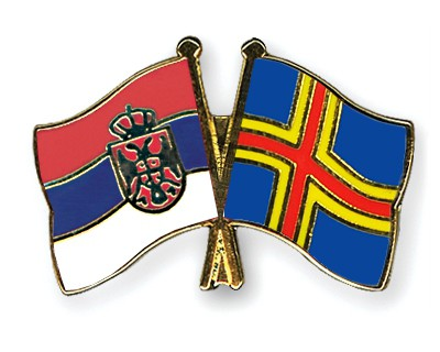 Crossed Flag Pins Serbia-without-Crest-Aland