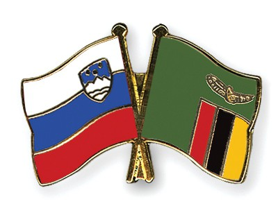 Special Offer Crossed Flag Pins Slovenia-Zambia