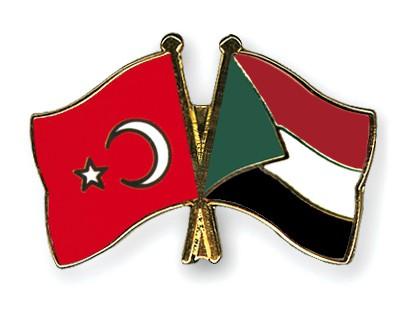 Crossed Flag Pins Turkey-Sudan