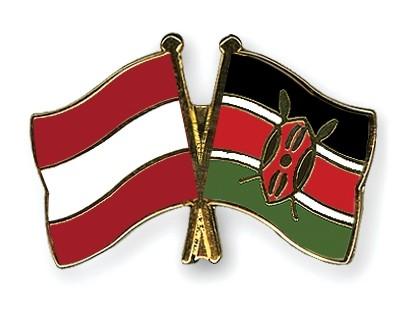 Special Offer Crossed Flag Pins Austria-Kenya