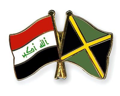 Crossed Flag Pins Iraq-Jamaica