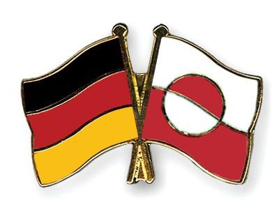 Crossed Flag Pins Germany-Greenland