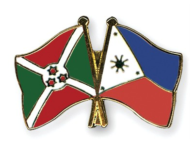 Crossed Flag Pins Burundi-Philippines