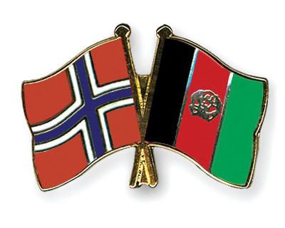 Crossed Flag Pins Norway-Afghanistan