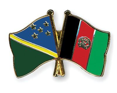 Crossed Flag Pins Solomon-Islands-Afghanistan