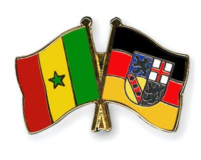 Crossed Flag Pins Senegal-Saarland