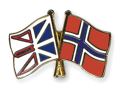 Crossed Flag Pins Newfoundland-and-Labrador-Norway