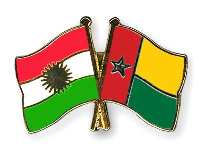 Crossed Flag Pins Kurdistan-Guinea-Bissau