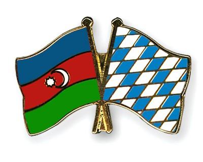 Crossed Flag Pins Azerbaijan-Bavaria