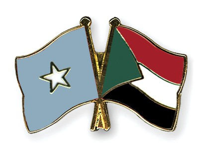 Crossed Flag Pins Somalia-Sudan