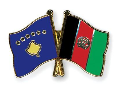Crossed Flag Pins Kosovo-Afghanistan