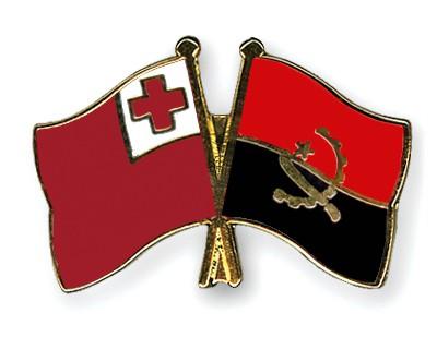 Crossed Flag Pins Tonga-Angola